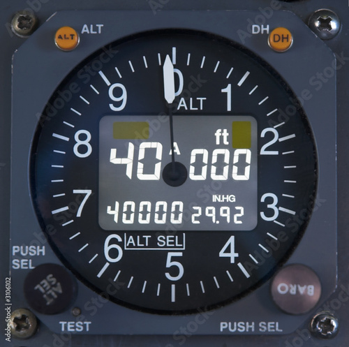 Photo electronic altimeter close up