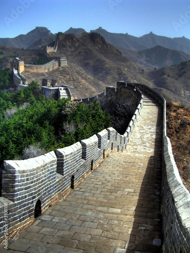 Poster Chinese Muur great wall - china