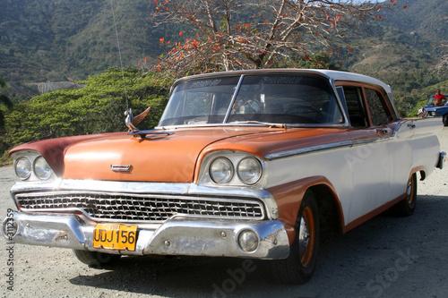 Photo  voiture américaine des années 50