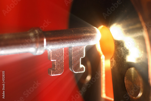 Fotomural key & keyhole with light