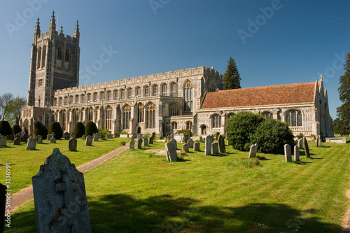 long melford church Canvas Print