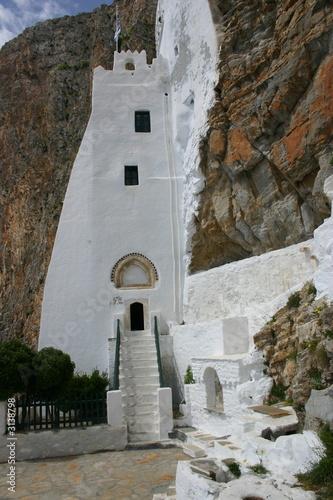 grèce/cyclades/amorgos/monastère du grand bleu Wallpaper Mural