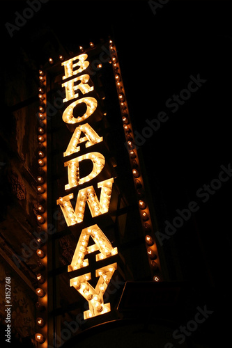 Photo sur Aluminium Opera, Theatre broadway sign