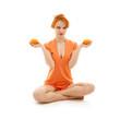 canvas print picture orange meditaton