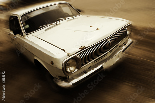 Deurstickers Oude auto s grunge speed