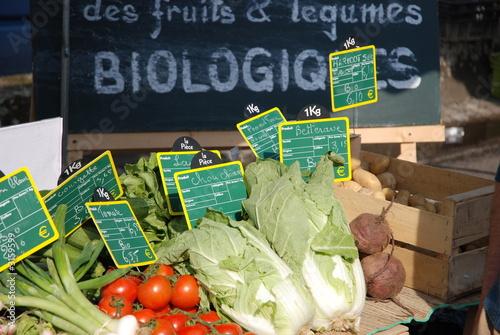 Photo marché biologique