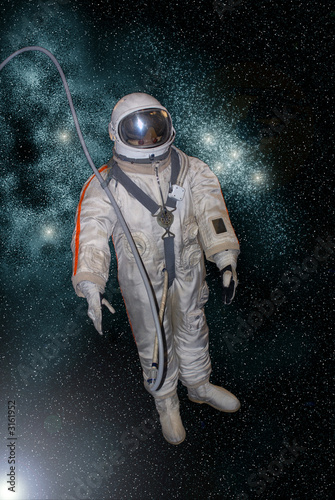 Photo  astronaut on the star background