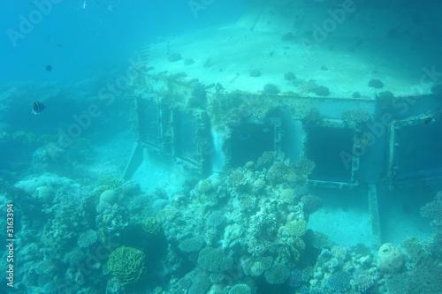 Spoed Foto op Canvas Schipbreuk underwater observatory
