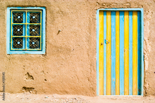 Recess Fitting Morocco colored door in the desert, morocco