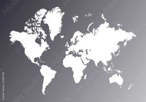 Fotobehang Wereldkaart world map
