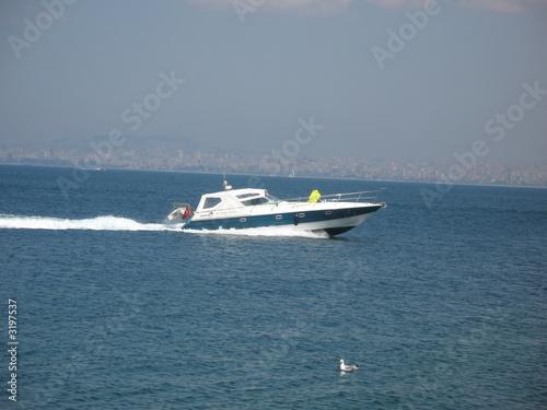 Garden Poster Water Motor sports schnellboat im meer