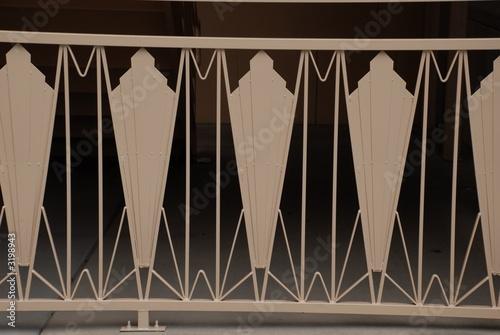 Spoed Foto op Canvas Licht, schaduw metal railing