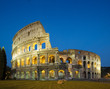 canvas print picture - coloseum at night