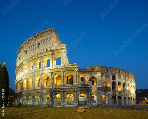 coloseum at night Canvas Print
