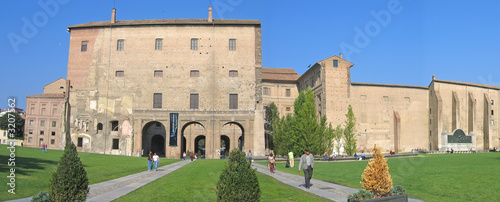 pilotta palace and its italian garden, parma, italia, panorama #3207562