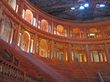 Farnese Theater From Inside In Carving Wood, Parma, Italia