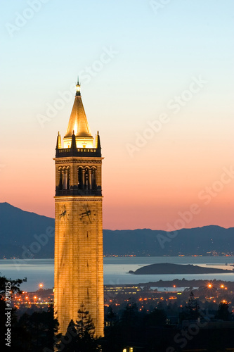 Canvas Print berkeley university sather tower zoom