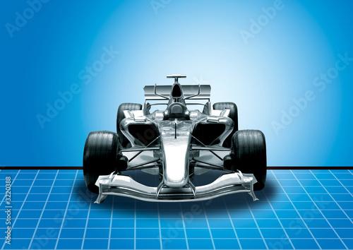 Türaufkleber Schnelle Autos formula one, speed concept