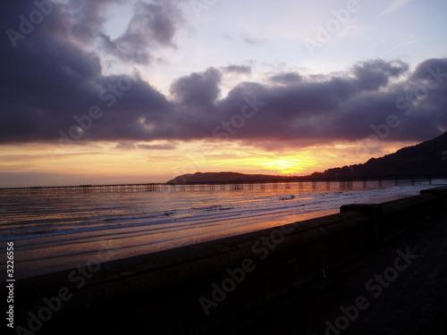Photo  winter sunrise