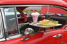 Car Hop Food And Antique Car