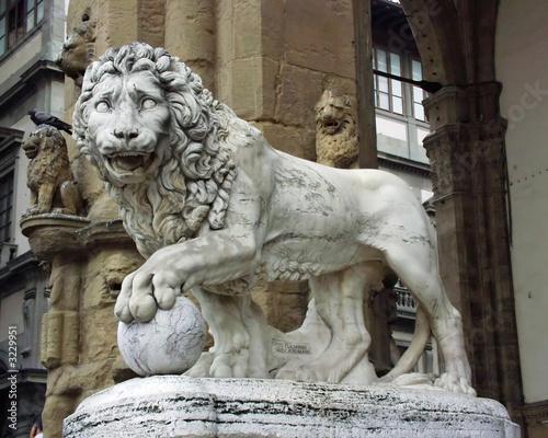 Photo lion sculpture  loggia dei lanzi - florence italy