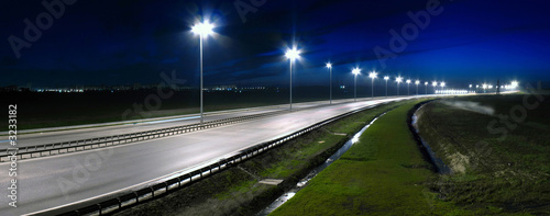 Papiers peints Autoroute nuit night highway