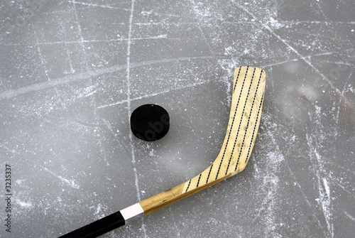 fototapeta na drzwi i meble Hockey Stick and Puck