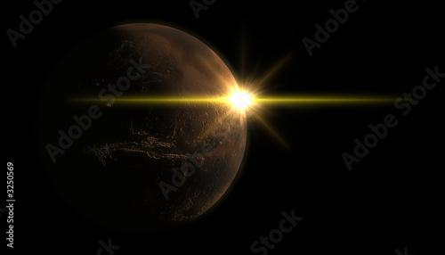 Photo mars and sun