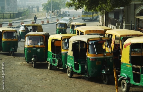 Fotografering  transport in new delhi