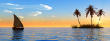 island and boat
