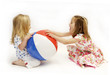 canvas print picture - beach ball fight