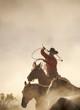 canvas print picture cowboy catching horses