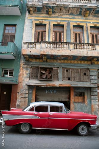 Türaufkleber Autos aus Kuba retro car