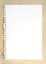 Blank Notepaper On Textured Ba...
