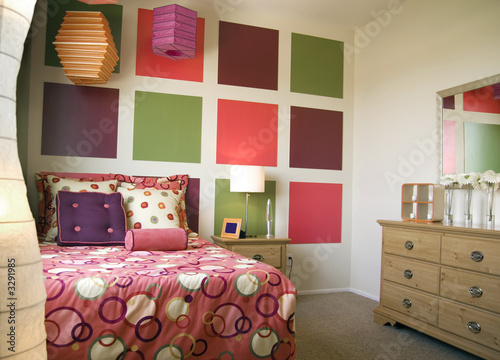 Photo  stylish teenage bedroom decor