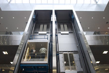 Lift In A Business Center