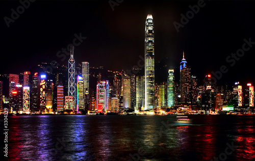 Fotografie, Obraz  night honkong
