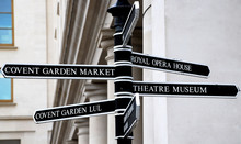 Covent Garden Direction Sign