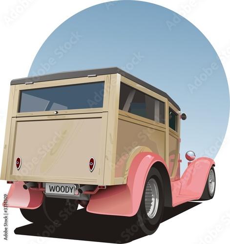 Fotografie, Obraz old vintage woody panel van