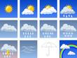 Leinwandbild Motiv Weather icons