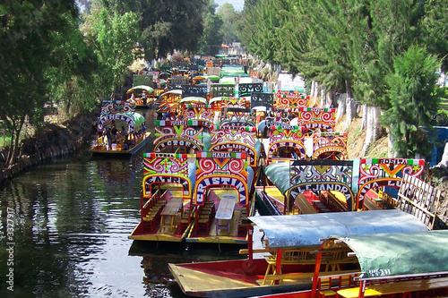 Poster Mexico boats of xochimilco