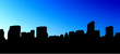 canvas print picture - new york - silhouette