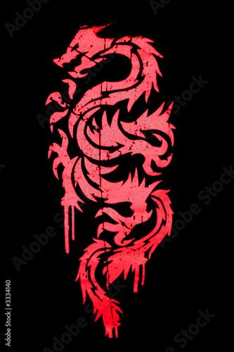 czerwony-namalowany-azjatycki-smok