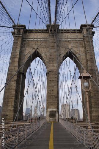 In de dag Bruggen brooklyn bridge