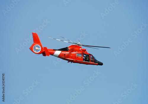 Foto op Canvas Helicopter coast guard helicopter