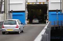 Cars Entering Ferry