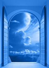 Window Over Stormy Sky