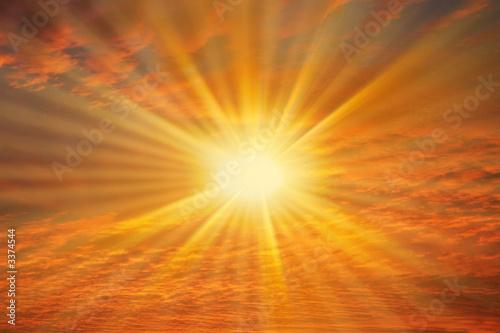 Fototapeta soleil dans ciel rouge obraz