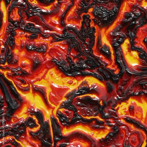 Poster Volcano rendering of molten lava
