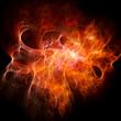 Leinwandbild Motiv chaos fire rays
